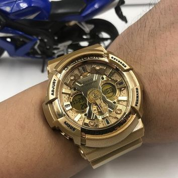 HCXX C028 Casio G-Shock GA-200 Waterproof Fashion Electronic Watches Gold