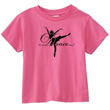 Ballerina Dance Personalized Hot Pink T-Shirt
