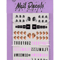 BEYONCE NAIL DECALS