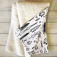 Heather Dutton Winter Wonderland White Fleece Throw Blanket