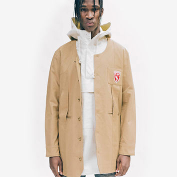 Elongated Cold War Work Jacket in Camel