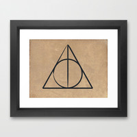Deathly Hallows Framed Art Print by gummybearmassacre