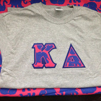 Sorority letter shirt jersey with Lilly Pulitzer fabric