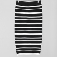 Be in Stripe Knit Mid Skirt