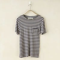 Craft + Commerce Short Sleeve Crew Neck Stripe Pocket T-Shirt