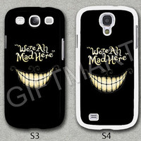 Please Choose Case Model, Samsung Galaxy S3 Case, Samsung Galaxy S4 Case, Samsung S3 Cover, Samsung S4 Cover, Cheshire Cat