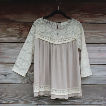 Lacey Baby Doll Blouse