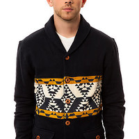 10 Deep Cardigan Native Shawl Navy