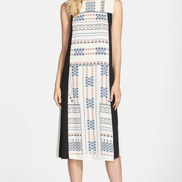 Women's BCBGMAXAZRIA 'Becka' Block Print Midi Dress,