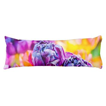 Tulips Enchanting purple Body Pillow