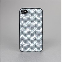 The Knitted Snowflake Fabric Pattern Skin-Sert for the Apple iPhone 4-4s Skin-Sert Case