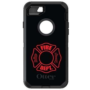 DistinctInk™ OtterBox Defender Series Case for Apple iPhone or Samsung Galaxy - Red Fire Department