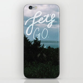 Let's Go iPhone & iPod Skin by Pineandpapyrus