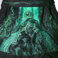 "Elegant Wool Vest ""Emerald""  Very Light and Warm.OOAK, eco-friendly"