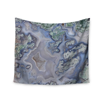"KESS Original ""Pastel Geode"" Blue Teal Wall Tapestry"