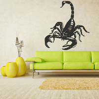 rvz1324 Wall Decal Vinyl Sticker Decals Scorpio Scorpion Animal