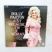 Clock, Record Clock, Record Cover Art Clock, Wall Clock, Dolly Parton Record Cover, Recycled, Upcycled Gift Item #17