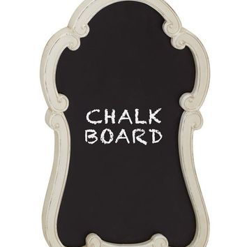 Monique White Framed Chalkboard