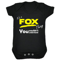 123t USA Baby It's A Fox Thing You Wouldn't Understand Funny Babygrow
