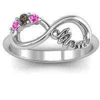 Mom's Infinite Love with Stones Ring