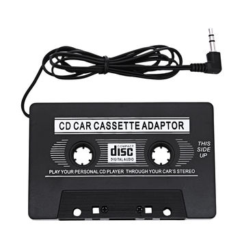 Universal Black Audio Car Cassette Tape Adapter Transmitters Converter For  MP3 CD DVD Player For Clear Sound Music