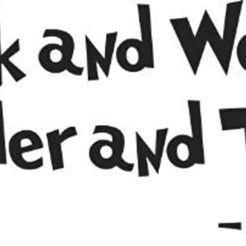 Dr. Seuss - Think and Wonder, Wonder and Think - wall art quote nursery baby saying