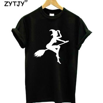 sexy witch Print Women tshirt Casual Cotton Hipster Funny t shirt For Girl Top Tee Tumblr Drop Ship BA-197