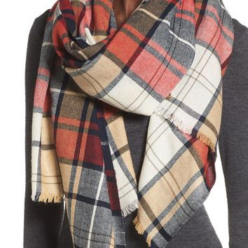 Sole Society Oversize Plaid Scarf | Nordstrom