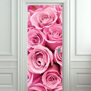 "Door STICKER rose st. valentines day mural decole film self-adhesive poster 30x79""(77x200 cm) /"