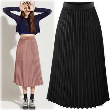 Women's Fashion High Waist Dress Chiffon Slim Skirt [37754961946]