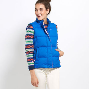 Women's Outerwear: Old Port Puffer Vest for Women - Vineyard Vines
