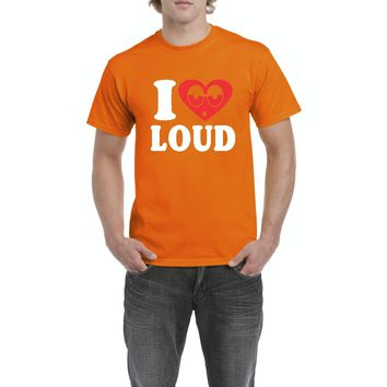 Artix I Love Loud Weed 420 Fashion People Pot Marijuana Couples Best Friend Gifts Men's T-Shirt Tee