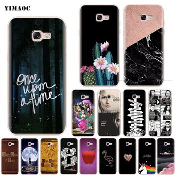 YIMAOC Once Upon A Time Silicone Case for Samsung Galaxy S7 S8 S9 Edge Plus J3 J5 J7 A5 A6 A8 Note 8 9