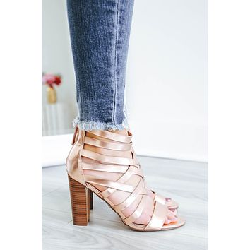 Sparks Fly Heels - Rose Gold