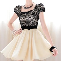 Lace rhinestone Cultivate one's morality dress for girls
