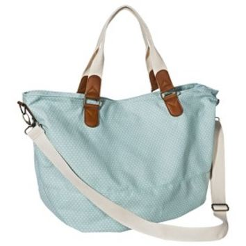 Mossimo Supply Co. Polka Dot Weekender Handbag with Removable Crossbody Strap - Blue