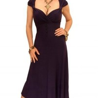 Blue Banana - Dark Purple Sweetheart Neckline Dress Size 8