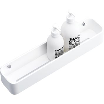 DWBA Stone Bath Shower Caddy White Shelf Organizer Rack for Shampoo Conditioner