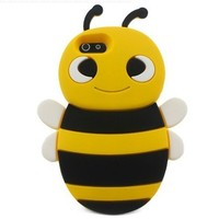 Leegoal 3D Animal Bee Cute Silicon Soft Back Cover Protecter Case For iPhone 4 4S