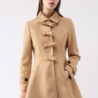 Sweeten Your Closet Bowknot Coat Dress in Tan