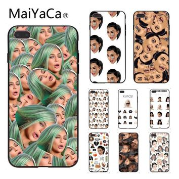 MaiYaCa Kimoji Kim Kardashian kanye west north Hard PC Phone Case For iphone 8 8plus and 7 7plus 6s 6s Plus 6 6plus 5s Cellphone