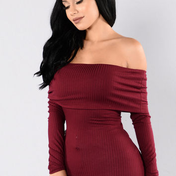 Up And Out Top - Burgundy