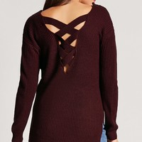 Caged Back Ribbed Sweater