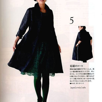 Kimono Remake Upcycled Dress Patterns - Japanese Sewing Book for Women Upcycling Clothing, Blouse Pattern, Coat, Vest, Pants Pattern - B914