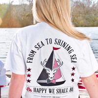 Jadelynn Brooke: Sea to Shining Sea Tee {White}