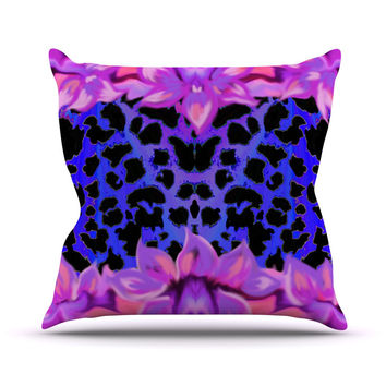 "Nina May ""Cerruda Leora"" Purple Pink Outdoor Throw Pillow"