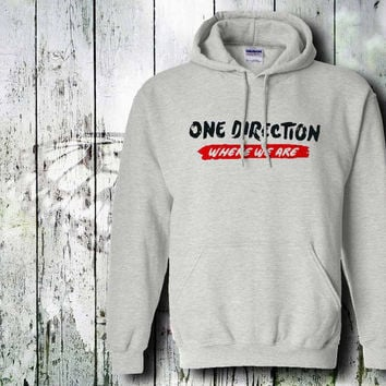 one direction where we are  hoodie unisex adult by gildan