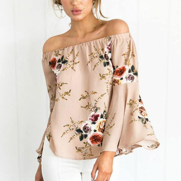 Dusty Rose Floral Top