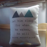 Mountain Nursery Pillow Baby Boy Gift Cotton Cushion Kids Gift