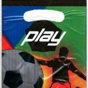 PAPER ART PLAY SOCCER PARTY BAG- 8 CT